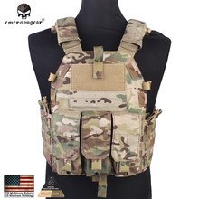 Emersongear Molle Tactical Vest Body armor Hunting plate Carrier Airsoft 094K M4 Pouch Emerson Combat Gear EM7356 Multicam nylon(China)