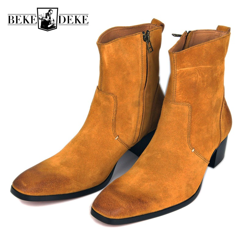 Plus Size Winter Men Real Suede Leather