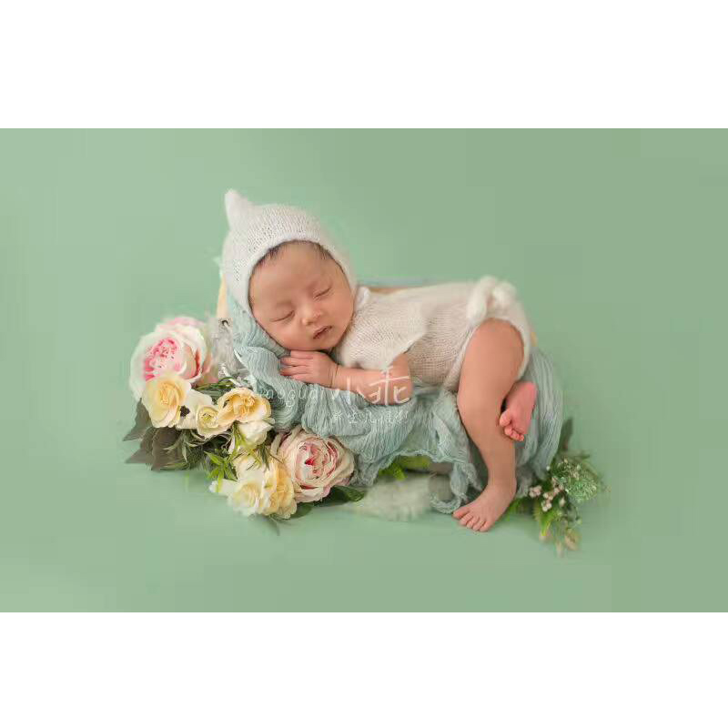 Newborn Baby Mohair Pants With Hat Set Baby Overalls Hand Knitted Pants Newborn Baby Rompers Photo Props Baby Photography Props so cute luxury newborn mohair romper newborn overalls newborn photo prop