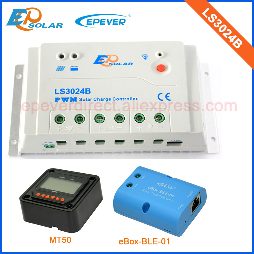PWM LS3024B 30amp 30A Regulator solar panels Battery Charge Controller with MT50 and bluetooth function epsolar pwm 30a regulator solar battery ls3024b with mt50 remote meter usb cable and bluetooth function