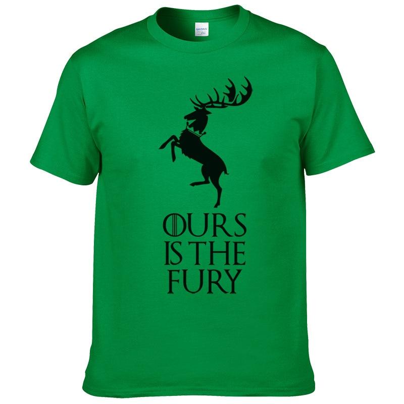 Game Of Thrones House Baratheon T Shirt Men Letter Tees Man Summer Printed T-Shirt Short Sleeve Cotton Shirts #258