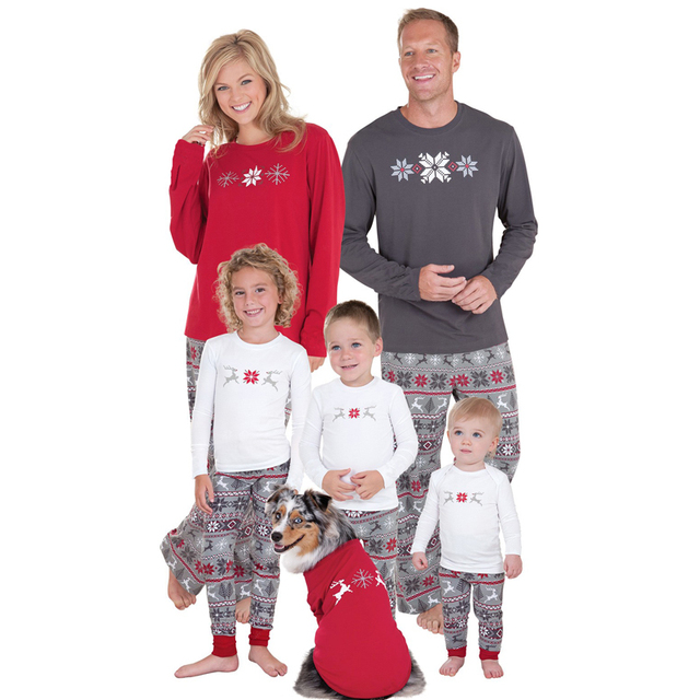 Hot Christmas pjs family matching family pajamas set pyjamas new year xmas  clothes sleepwear mother daughter 91c8305c9