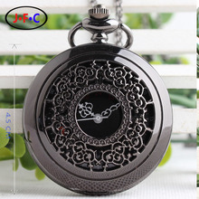 Personalized gift hollow retro watch male students creative lovers quartz pocket watches free shipping DS144