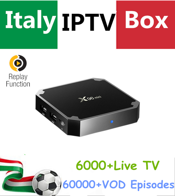 Italy IPTV Box Android IPTV Box X96 MINI 4K UHD + Albania Germany French Turkey UK PayTV Hotclub Adult Channel Smart tv Box