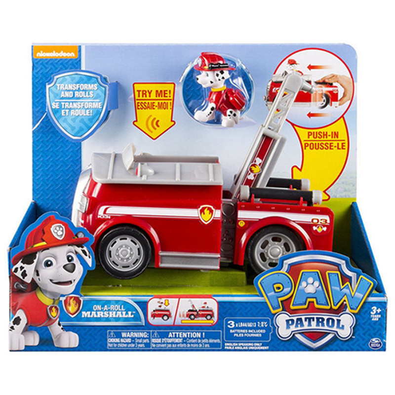 Paw patrol Puppy patrol car Pullback Car Dogs Kids Toys Action Figure Animal Patrulla Toy chase marshall rocky rubble dog toys aravia professional карамель для депиляции ванильно сливочная плотной консистенции