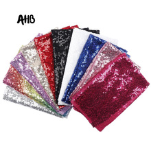 AHB Sequin Fabric Shiny 3mm Encrypted Sequin Gold Silver Sparkly Fabric For Clothes/Part Cushion Party Events Table Decor Cloth коврики в салон автомобиля protex для nissan qashqai 2014 2016 2016 с перемычкой 4 шт