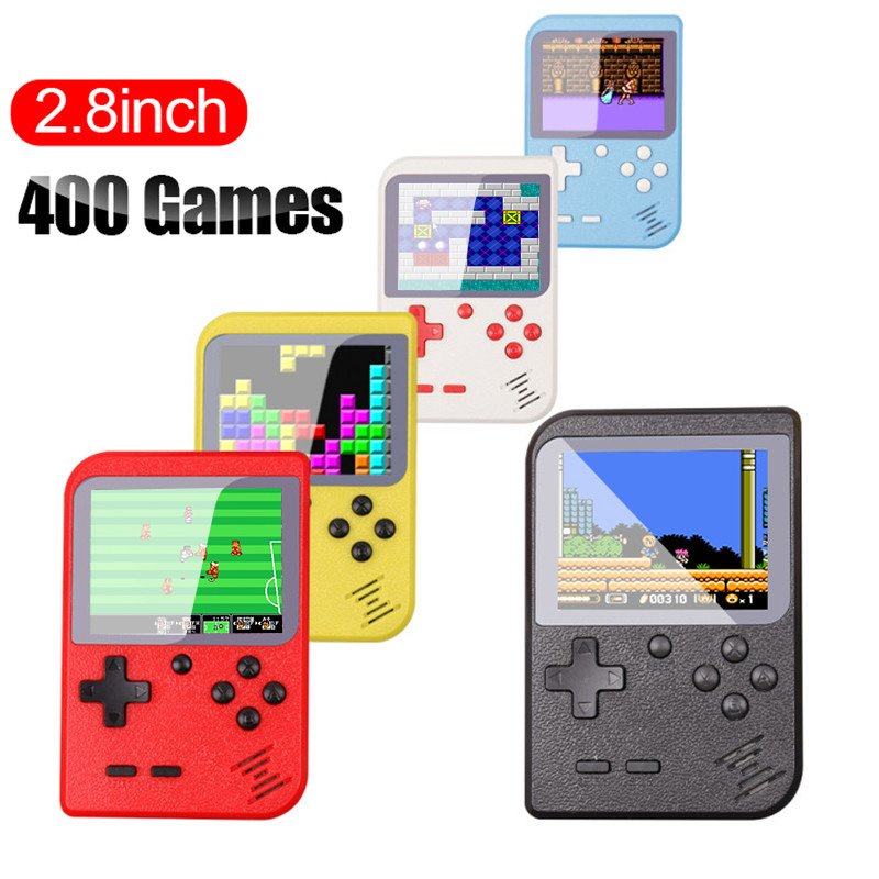 Video Game Console 8 Bit Retro Mini Pocket Handheld Game Player Built-in 400 Classic Games Best Gift for Child Nostalgic Player(China)