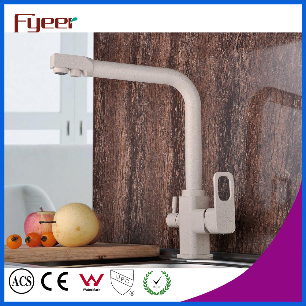 Free Shipping Brass 3 way Kitchen Faucet Kitchen Sink Mixer Tap Hot Cold Kitchen Filter Tap
