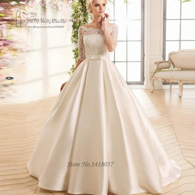 Imported China Cheap Boho Wedding Dress Lace Princess Bride Dresses ...