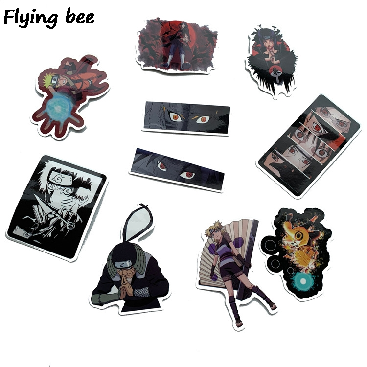 Image 5 - Flyingbee 70 Pcs Naruto Japanese anime Graffiti Stickers for Kids DIY Luggage Laptop Skateboard Car Waterproof Sticker X0214-in Stickers from Consumer Electronics