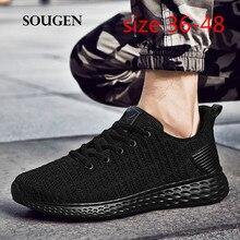 5f349cb7f0 Neakers Homens Verão Tenis Masculino Adulto Sapatos Calçados Casuais para Homens  Tamanho 48 Krasovki Mens Andando