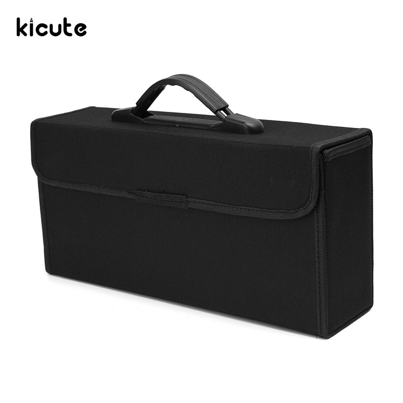 Kicute 72 Slots Excellent Art Sketch Marker Pens Case Carrying Storage Pencil Case Holders Portable Empty Box School Supply hiinst black portable and durable waterproof portable carrying storage aluminum alloy case box for spark drop aug15