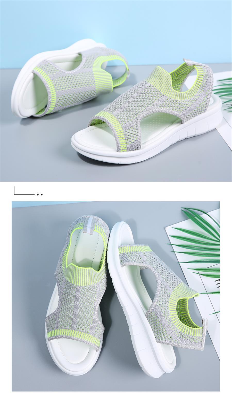 STQ Women sandals 2019 female shoes women summer wedge comfort sandals ladies flat slingback flat sandals women sandalias 7739