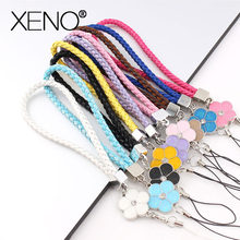 lanyard for keys Mobile Phone accessories Straps Rhinestone Beaded Smart Phone Key Ring Holder Lanyard neck strap Cord Hand Rope(China)