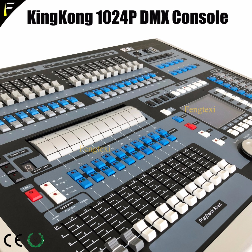 Upgrade Kingkong 1024P Stage Beam Moving Head Light DMX Console 1024 Channels Controller Desk Connect 80 Computer Light
