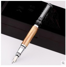 Duke Classic Confucius Series Bamboo Metal 0.7 mm/1.2 mm Iridium Nib Fountain Pen for choose Ink Pens for Gift