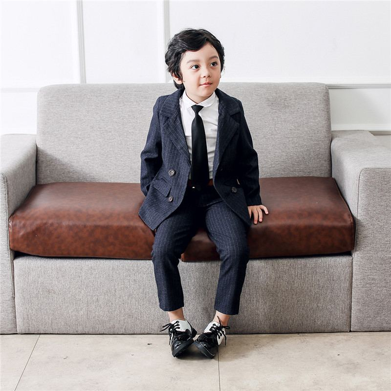 New Baby Boy Suit For Wedding Piano Party Teenage Boys Cotton Striped Blazer+Pant 2Pcs Sets Kids Boys Suits Formal Clothes Y173New Baby Boy Suit For Wedding Piano Party Teenage Boys Cotton Striped Blazer+Pant 2Pcs Sets Kids Boys Suits Formal Clothes Y173