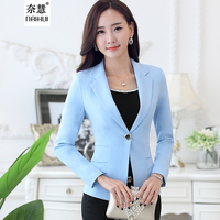 Lenshin New Fashion Women Blazer Jacket Suit Casual Candy Coat Jackets Single Button Outerwear Woman Tops Female