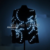 LED luminous Western style clothes for performance/business suit/light up suits/light with leds