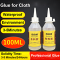 100ML Waterproof Clear Textile Fabric Liquid Super Glue Leather Fiber Strong Clothes Leather Plastic Cloth Adhesive Clothing DIY
