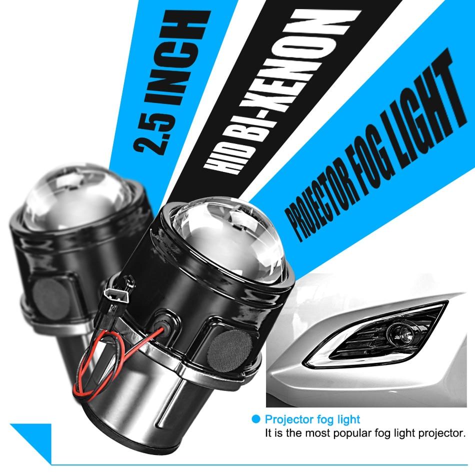 RACBOX универсальные водонепроницаемые 2,5 дюймовые Биксеноновые противотуманные фары, объектив проектора, противотуманные фары для вождения автомобиля, мотоцикла, комплект для модернизации H11 55W