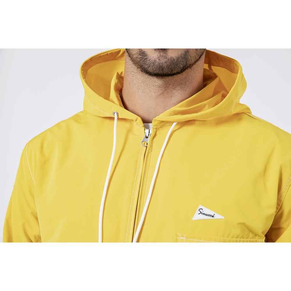 Simwood 2020 nova primavera jaquetas masculinas moda causal zíper com capuz jaquetas de alta qualidade marca roupas casacos 190216