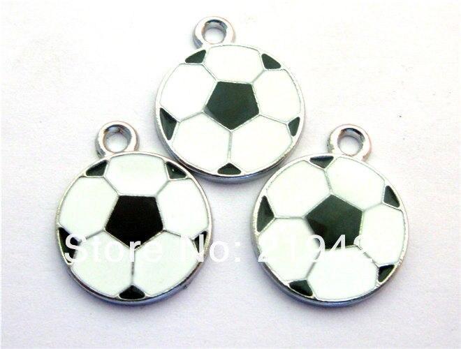 c26afb5247 100 pcs 19x19mm Football DIY Tunggu Charms Pendands aksesoris Jewelry  ponsel Fit