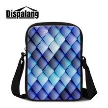 Dispalang mini messenger bags for women small ladies bolsa 3D printing kids shoulder bag men cross body bag for traveling retail