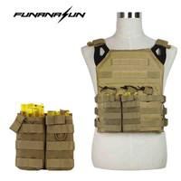 Tactical Magazine Pouch Molle Double Pocket Open Top Bag Holder Easy Carry Pouch Vest Belt Attachment