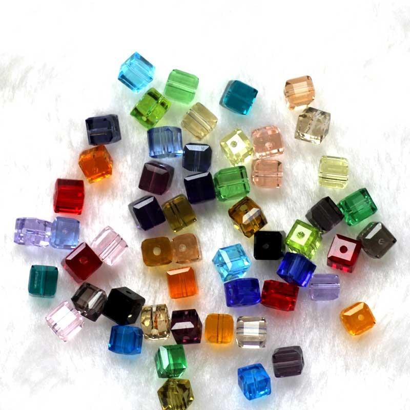 100 Teile / los Kristall Perlen 5601 Quadratwürfelform 8x8 MM 18 - Modeschmuck - Foto 6