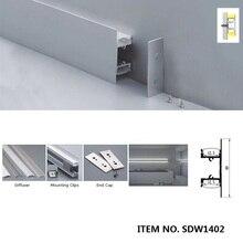 1m,2m Luce Dellarmadietto del led profilo in alluminio per le strisce led, sotto la luce Mobile Ha Condotto il profilo in alluminio formato interno 12.5 millimetri SDW050