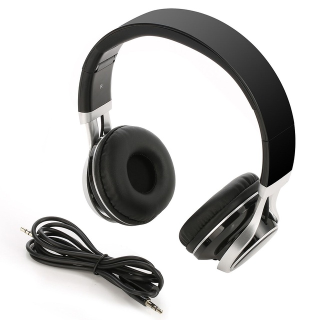 TOPROAD Wired Headphone 3.5mm Foldable Stereo Headset audifonos Earphone Headband with Mic for IOS Andorid Smart Phone Computer