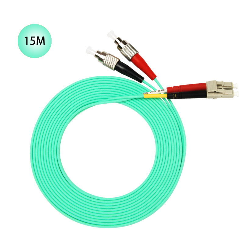 FC to LC 10GB Laser Optimized Multimode Fiber Patch Cable - OM3 - 15 Meter Free Shipping