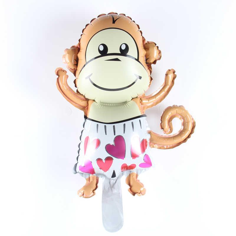 1 шт. мини мальчик обезьяна мультфильм ручной воздушный шар фольги Воздушные шары Дети День Рождения вечерние декоративные шары игрушки для вечеринки перед рождением ребенка принадлежности