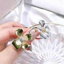 Adjustable Big Flower Rings For Women 2019 New Handmade Finger Ring Trendy Jewelry Gold/Silver Color