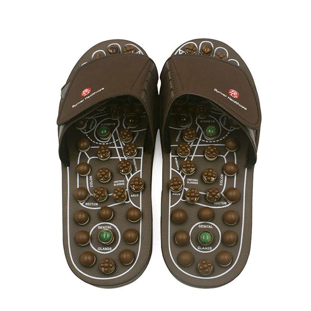 Jadestone Reflexology Massage Acupuncture Health Care Shoes Foot Soothing Healthcare Summer Sandal Slippers Jade Stone Men Women