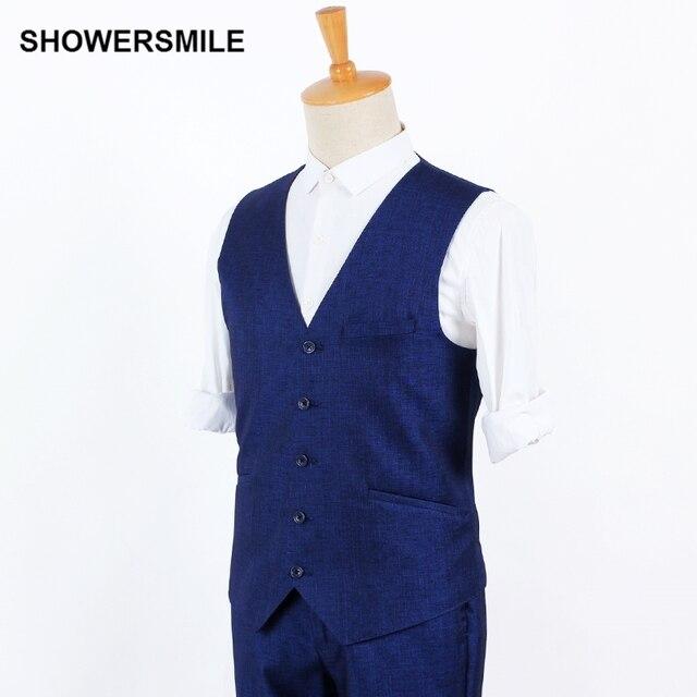 Dark Blue Suit Vest Mens Slim Casual Waistcoat British Designer Clothing Spring Autumn Wedding Dress Vest Sleeveless Suit Blazer
