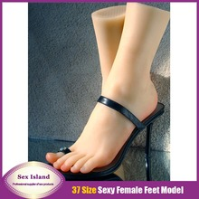 New shoes model adult sex product solid silicone feet Pussy Foot fake women feet model girls feet mold 3700 free shipping