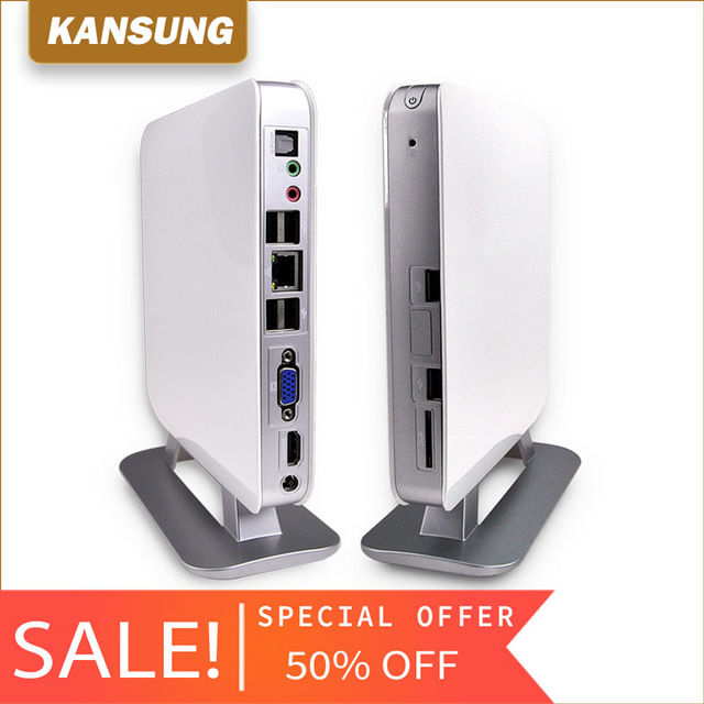 KANSUNG Fan Mini Computer AMD E350 Micro Barebone Mini PC 1 LAN 1 VGA USB Linux Motherboards Industrial PC