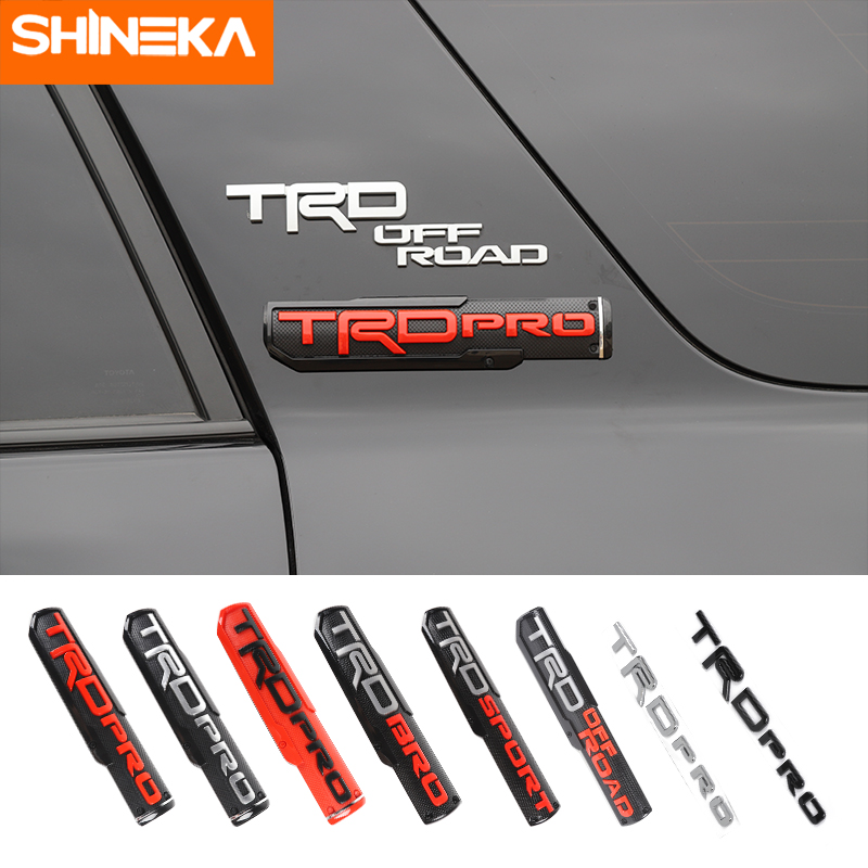 SHINEKA Car Stickers For Toyota 2017  ABS Car TRD Emblem Badge Stickers Car Styling Accessories For Toyota Racing Car Logo