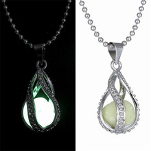 Teardrop Glow in Dark Pendant Necklace