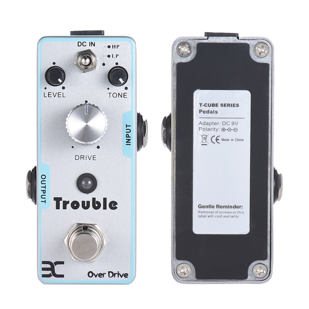 ENO High Quality True Bypass Design Trouble Pedal TC-16 Overdrive Single Electric Guitar Effect Pedal high quality mini overdrive pedal