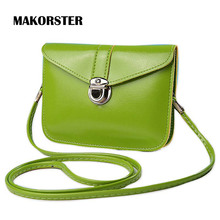 MAKORSTER Famous Brands Summer Girl Shoulder Bags PU Leather Crossbody Bag Gift Luxury Hasp Mini Handbags