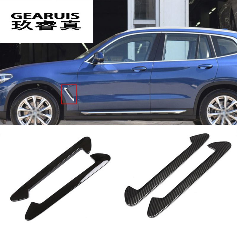 Car Styling For <font><b>BMW</b></font> <font><b>x3</b></font> g01 Air Flow Fender Side Wing Intake Vent decoration Door Waist line Covers Sticker Trim Auto <font><b>Accessories</b></font> image