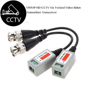 Image 5 - 12 Pcs מצלמה CCTV BNC CAT5 וידאו Balun פסיבי משדר כבל מתאם מחבר