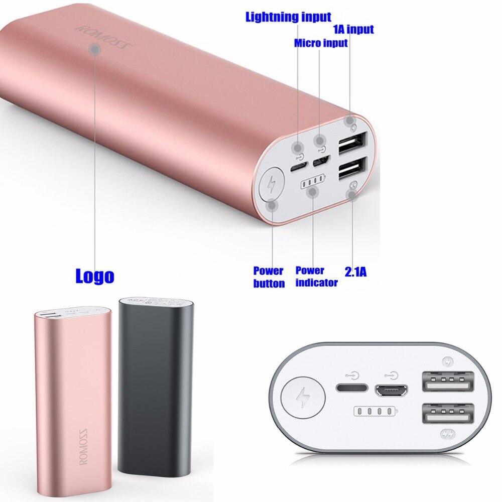 Romoss Power Bank 20000mah Powerbank 26650 ACE Dual usb 2.1A for iPhone Mi Samsung Huawei Xiaomi Mobile Phone Charger