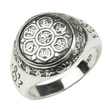 Vintage prsten pro muže i ženy – Buddha, stříbro 925