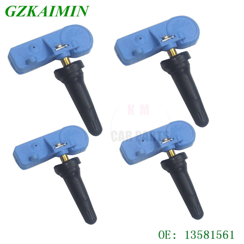 set of 4 high quality TPMS Tire Pressure Sensors TPMS  fit For GMC Buick Cadillac Chevrolet  20922901 13581561 22853740 .-in Tire Pressure Monitor Systems from Automobiles & Motorcycles    1