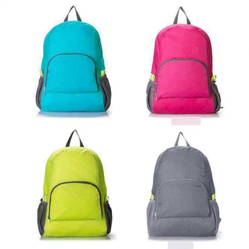 Waterproof 2016 Sport Bags The Portable Zipper Soild Nylon Backpack Daily Women Mountain Climbing Bag Folding