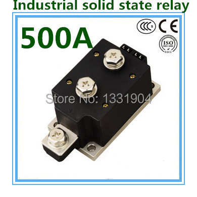 LED indicator DC to AC SSR-H500ZF 500A SSR relay input DC 3-32V output AC1200V industrial solid state relay